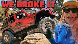 WE BREAK OUR JEEP - Jeep vs Buggy Challenge on Billings Canyon
