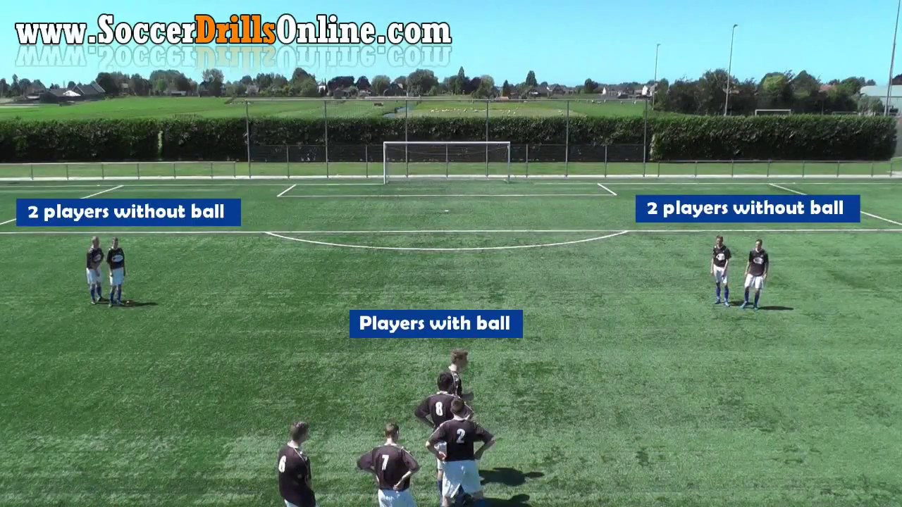 Louis van Gaal Triangle Passing Drill | Soccer Drills Online - YouTube