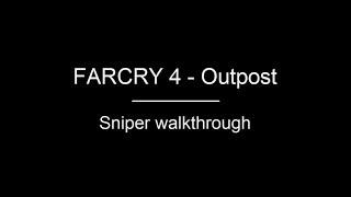 FARCRY 4 | Outpost Walkthrough - Smuggler village (Sniper)