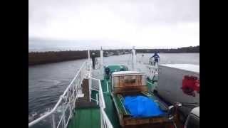 黒島旅客船「フェリーくろしま」 相浦→黒島 11月中旬 【4】黒島港到着 汽笛2発