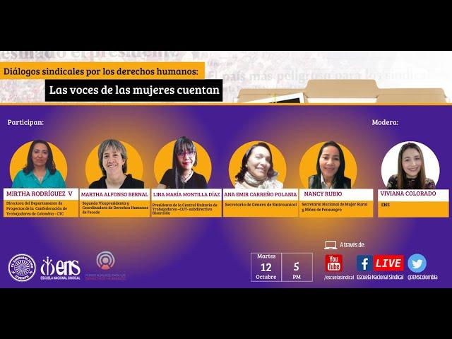 Diálogos sindicales por los derechos humanos: Las voces de las mujeres cuentan