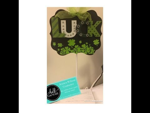 "Chalk Couture ""Luck"" Chalkboard with Vintage Truck Add On"