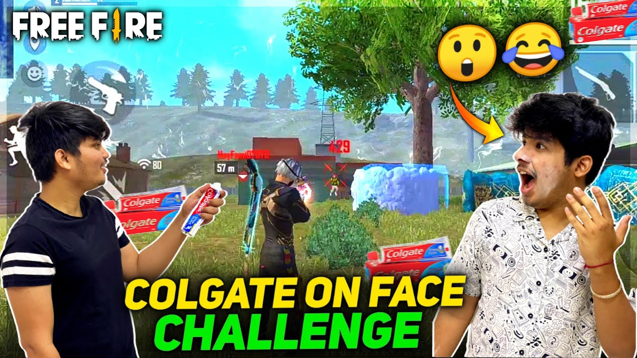 Free Fire || Toothpaste On Face Challenge Between Jash & Ritik Duo Vs Squad - Two Side Gamers