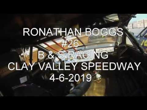 RONATHAN BOGGS #26 B&S RACING CLAY VALLEY SPEEDWAY 4 6 2019. - dirt track racing video image