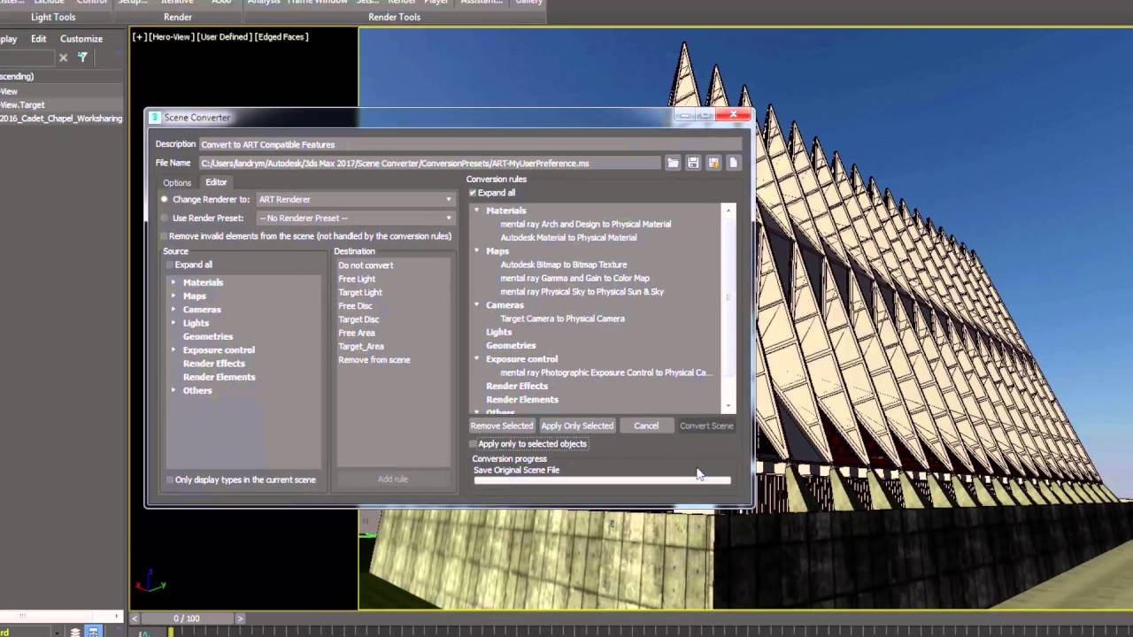 3ds Max 2017 new feature - Scene Converter - YouTube