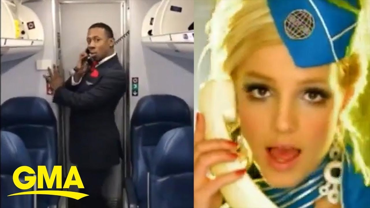Flight Attendant Recreates Britney Spears Toxic Video ...  Toxic Britney Spears Flight Attendant