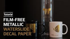 [How To Use] Film-Free Metallic Waterslide Decal Paper (Gold/Silver) | 무필름 메탈릭 물전사지 (골드/실버)