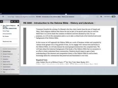 Introduction to the Hebrew Bible   Syllabus Introduction