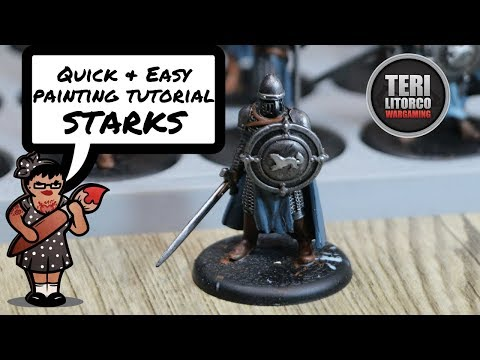 TUTORIAL: How to Paint House Stark Soldiers  A Song of Ice and Fire Minis Game