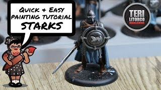 TUTORIAL: How to Paint House Stark Soldiers - A Song of Ice and Fire Minis Game