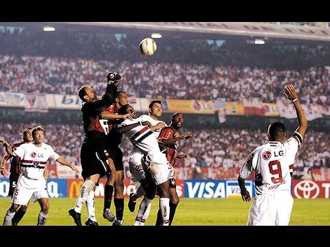 Globo Esporte - São Paulo 4 x 0 Atlético-PR - Final da Libertadores 2005 -  YouTube