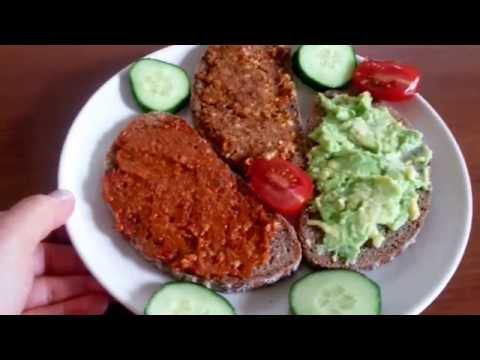drei-vegane-aufstriche-mit-avokado,-tomaten-und-nüssen---vegane-rezepte-canans-rezepte