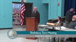 Shaftsbury Town Meeting // 03/02/20
