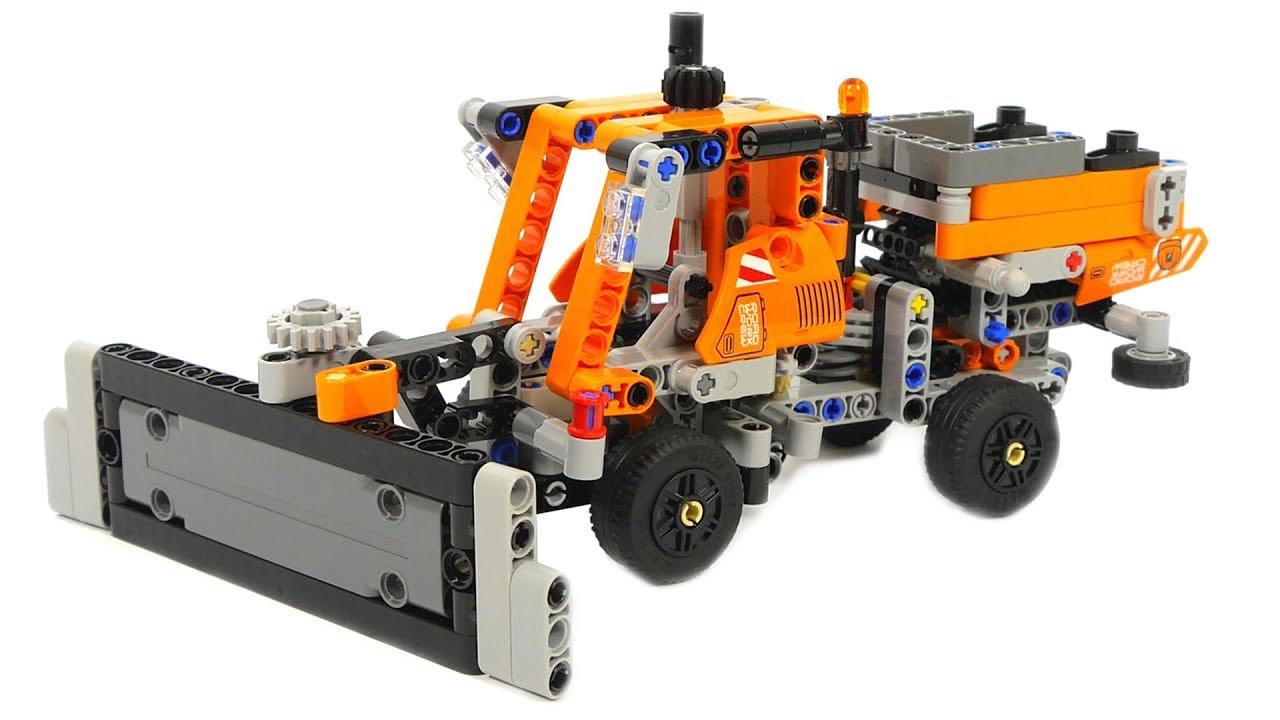 Lego Technic 42060 Roadwork Crew B model Mini Gritter with Plow - YouTube