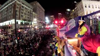 New Orleans Mardi Gras 2013 Krewe of Endymion GoPro Hero 3