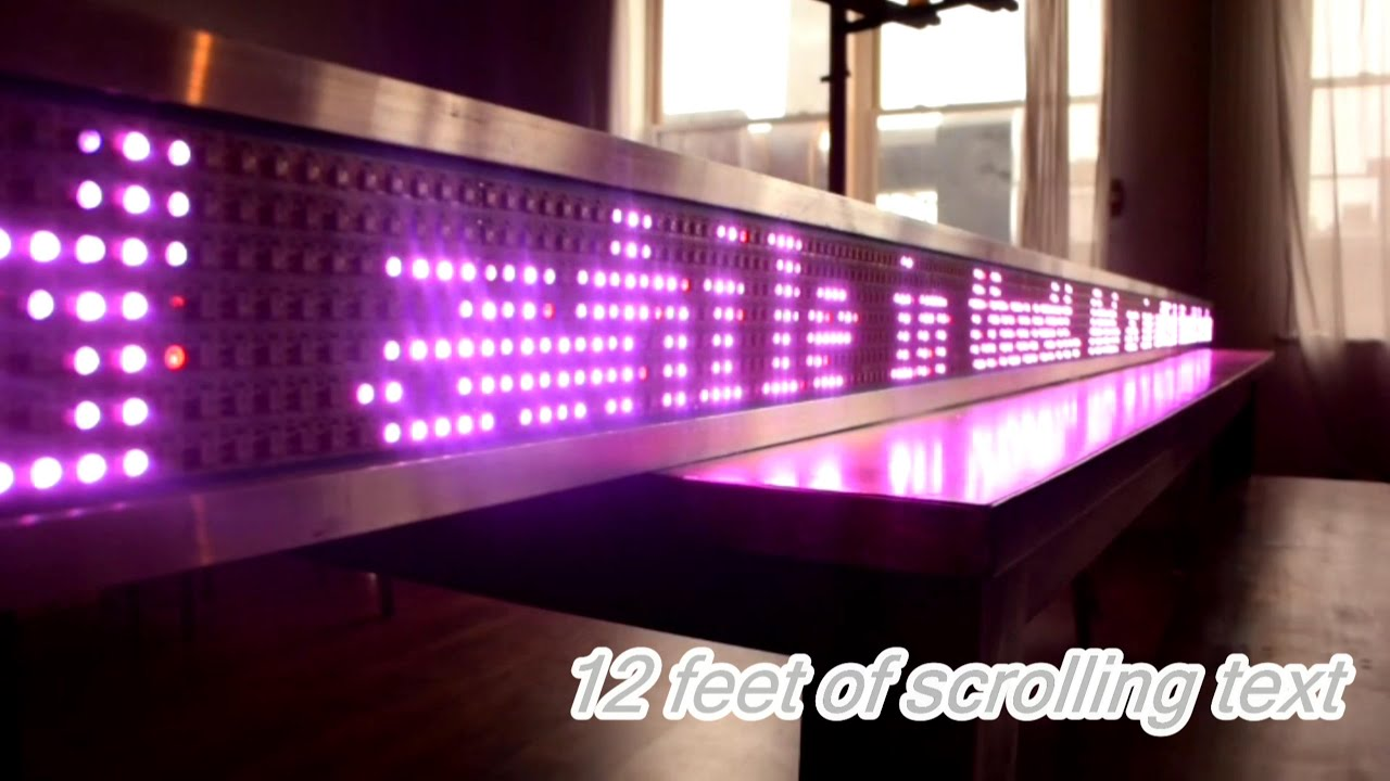 Build A Giant Scrolling Led Text Display For About 15 Per