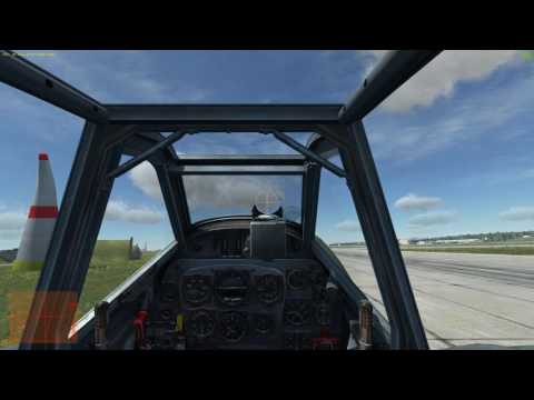 DCS world How to takeoff & landing on Bf109 K4 at crosswind 20 m/s