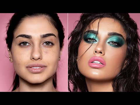 How I do Makeup on my Clients | Glossy Teal thumbnail