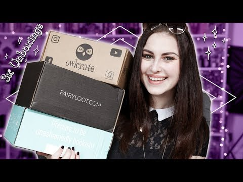TRIPLE UNBOXING & BOX PICKS MY TBR: Owlcrate, Fairyloot, Book Box Club April 2019