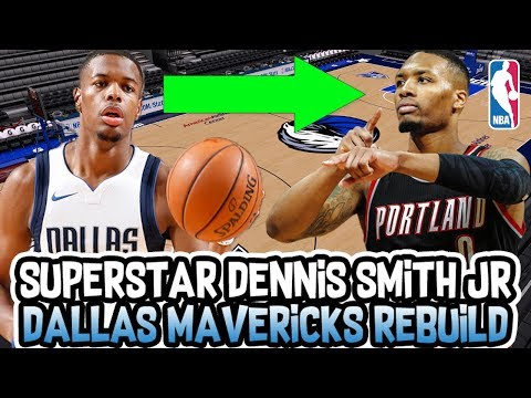 SUPERSTAR DENNIS SMITH JR! DALLAS MAVERICKS COMPARISON REBUILD! NBA 2K18 MY LEAGUE