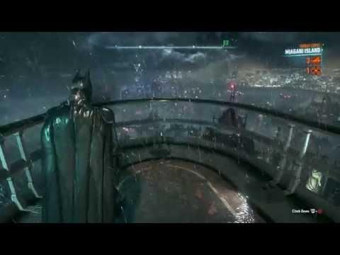 Batman Arkham Knight Free Roam - Gliding Around Gotham