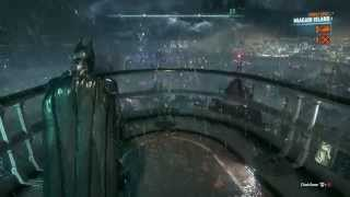 Batman Arkham Knight Free Roam - Gliding Around Gotham