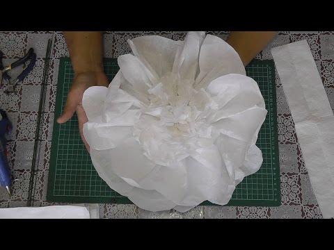 Большие цветы из бумаги. Мастер-класс