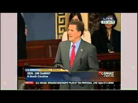 Senator Jim DeMint's Farewell Speech