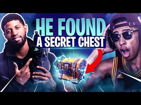 Playing Fortnite With NBA ALL-STAR Paul George! NEVER BEFORE SEEN CHEST! Fortnite Battle Royale
