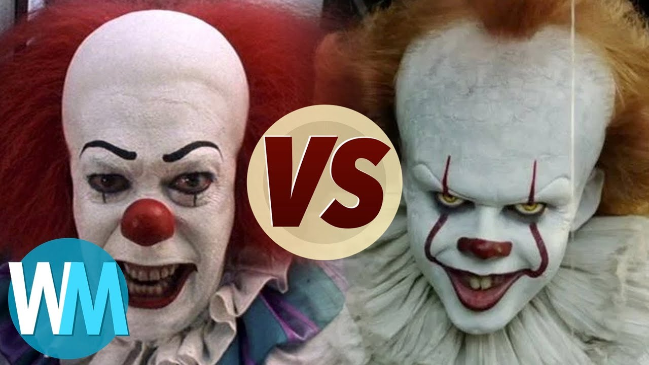 pennywise 1990 vs 2017 youtube