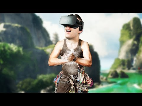 Realistic Virtual Reality Rock Climbing! - The Climb Gamepla