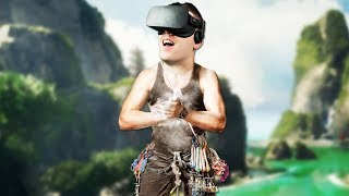 Realistic Virtual Reality Rock Climbing! - The Climb Gameplay - VR Oculus Rift (Sponsored)