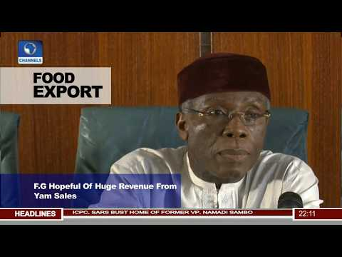 FG Hopeful Of Huge Revenue From Yam Export