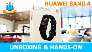 Huawei Band 4 Unboxing and Hands-on