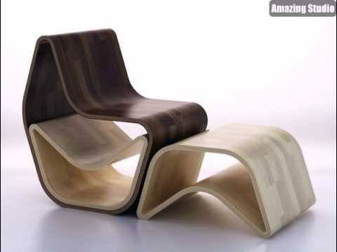 Holz Gval Stuhl Moderne Mobel Design Youtube