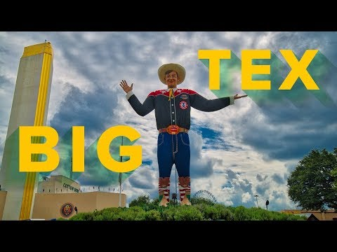 THE BIGGEST FAIR IN THE NATION!!! STATE FAIR OF TEXAS with BIG TEX!