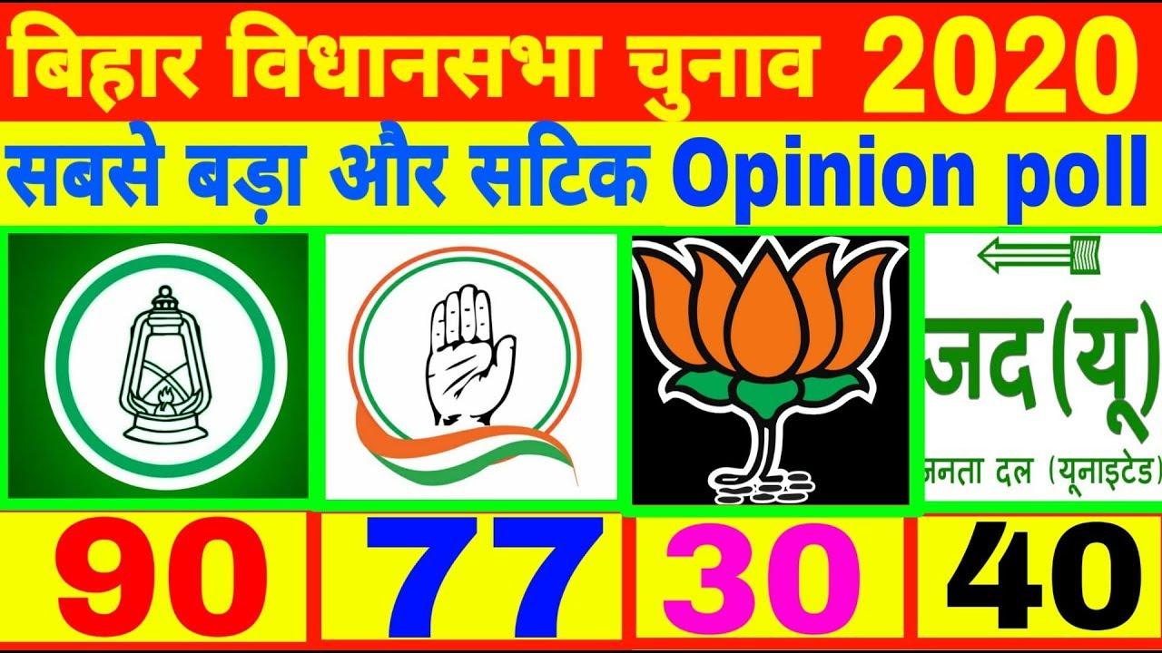 बिहार विधानसभा चुनाव 2020 opinion poll | Bihar assembly election 2020 | Tejsawai yadav news