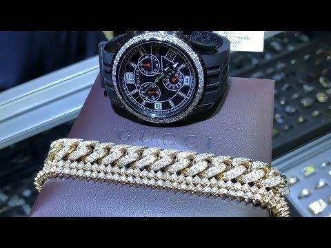 Diamond Bracelet & Gucci Watch Video Review TraxNYC