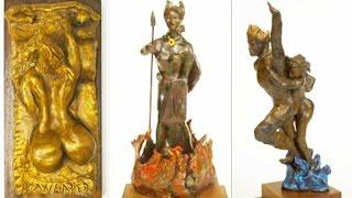 Ode To Patricia Marand Salem - Three Sculptures - Maneater, Brunhilde & Zeus