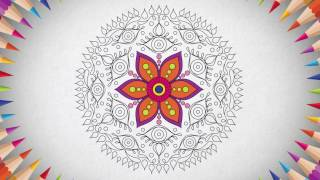 Mandala adult coloring book. Relaxing coloring pages.