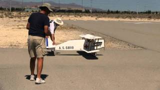 WWI RC Bi-plane built from scratch maiden flight. by locksmithvideoschool.com