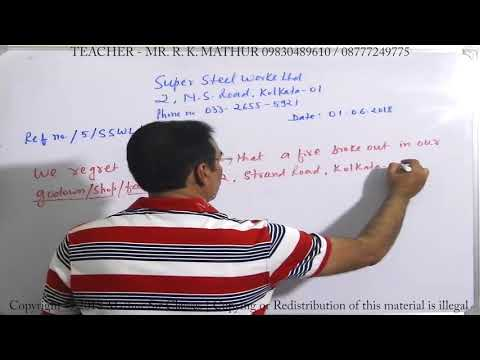 Insurance Letter And How To Write Insurance Letter | Business Communication | Mathur Sir Classes