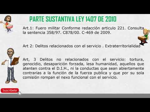 ley-1407-de-2010-penal-militar,-tema-3-concurso-ha-subintendentes