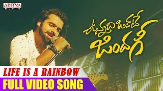 Life Is A Rainbow Song | Vunnadhi Okate Zindagi Songs | Ram, Anupama, Lavanya, DSP