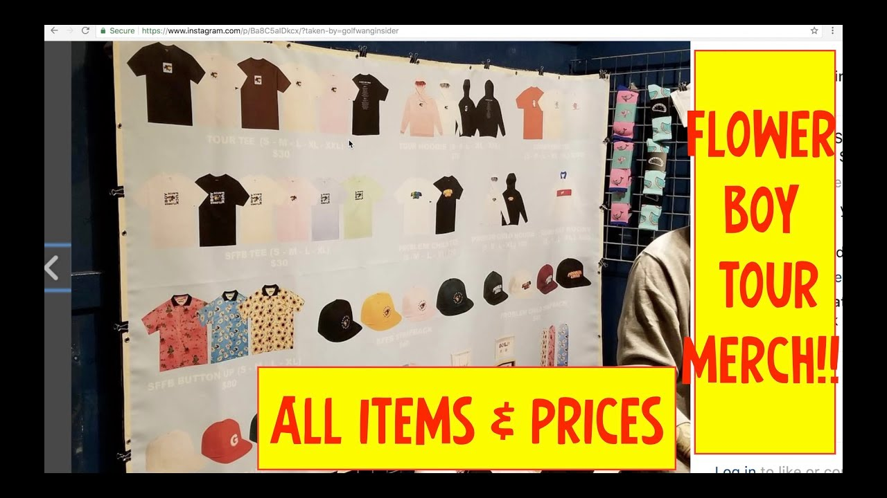 757cf6508d77a7 FLOWER BOY TOUR MERCH! ALL PIECES AND PRICES