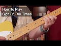 watch he video of 'Sign O' The Times' Prince Guitar Lesson