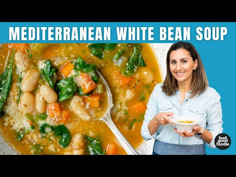 SIMPLE Mediterranean White Bean Soup