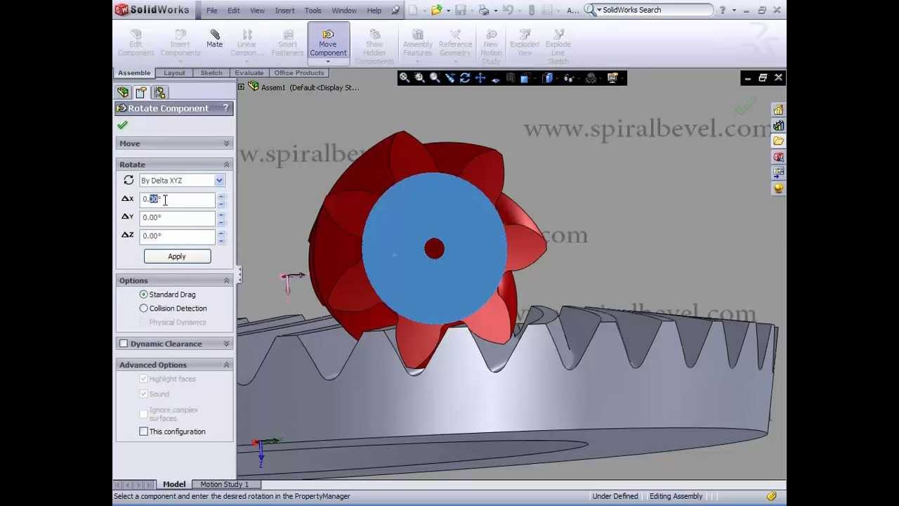 Spiral Bevel Gear Modeling In Solidworks Youtube