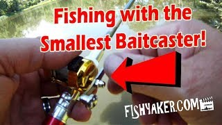 Fishing with the Smallest Pen Style Baitcasting Rod and Reel!