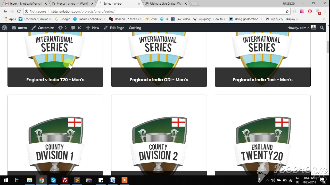 Ultimate Live Cricket WordPress Lite – WordPress plugin | WordPress org
